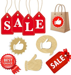 Sale Icons Set vector image
