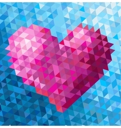 Triangle heart vector