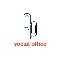social office concept design template vector image