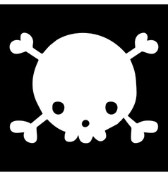 Halloween cartoon funny skull head mascot icon vector image