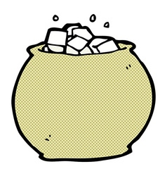 Comic cartoon bowl of sugar vector