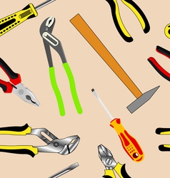 Hand tools seamless pattern vector