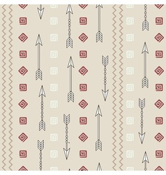 Ethnic pattern with arrows vector image
