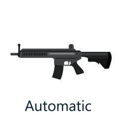 Assault automatic black rifle military gun on vector
