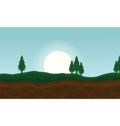 Background of hill beauty landscape vector