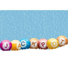 bingo lottery jackpot vector image vector image