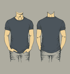 black t-shirt template vector image vector image