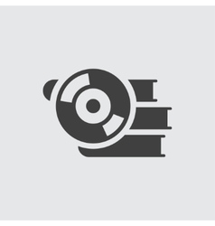 Book and CD icon vector image
