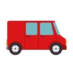 Cargo van delivery vector