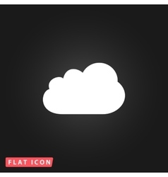 Cloud flat icon vector
