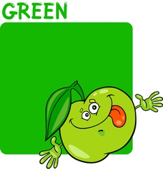 Color Green and Apple Cartoon vector image vector image