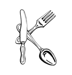 cutlery - the letter K vector image