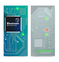 Electronic board banners set vector