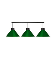 Flat cartoon green billiard lamp vector