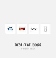 flat icon auto set of headlight packing auto vector image vector image