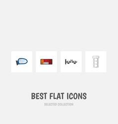 Flat icon auto set of headlight packing auto vector