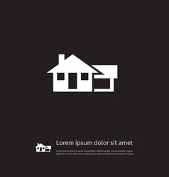 Isolated farmhouse icon ranch element can vector