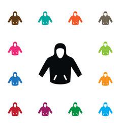 isolated hoodie icon sweatshirt element vector image
