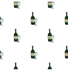 Italian wine from italy icon in cartoon style vector