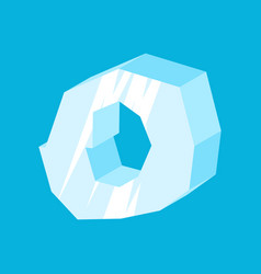 letter o ice font icicles alphabet freeze vector image