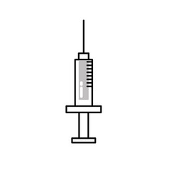 line syringe medical tool to treatment injection vector image vector image