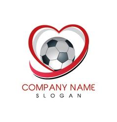 Love soccer logo vector image