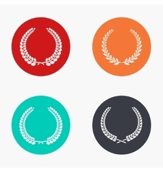 Modern quality colorful icons set vector