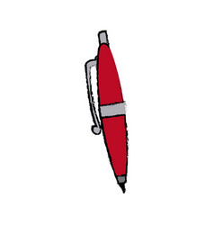 Pen ink write supply work icon vector