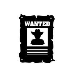 poster wanted cowboy west icon graphic vector image