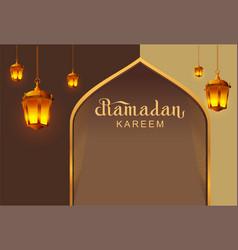 ramadan kareem lettering text template greeting vector image vector image