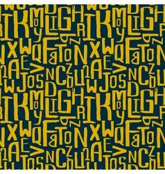 Seamless grunge letter pattern vector image