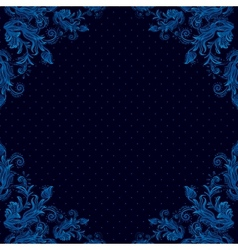 Seamless vintage background baroque pattern vector image