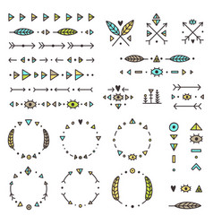 set of tribal elements vector image vector image