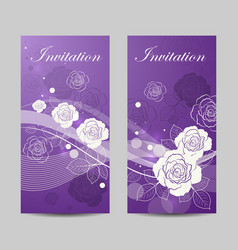 Set of vertical banners with flowers vector