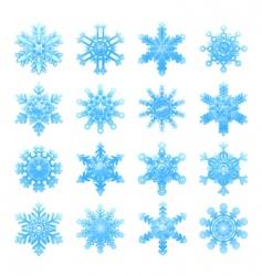 snowflakes symbols vector image vector image
