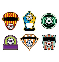 Soccer football badges and emblems vector