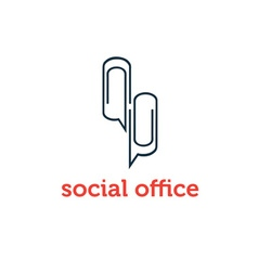 social office concept design template vector image