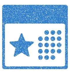 Star holiday calendar grainy texture icon vector