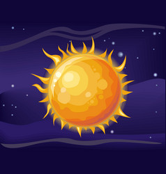 sun in space background vector image vector image