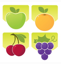 sunny fruit vector image vector image