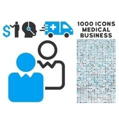 Clients icon with 1000 medical business symbols vector