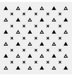 Black and white pattern background triangle retro vector