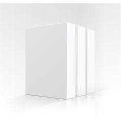 Set of blank white vertical boxes in perspective vector