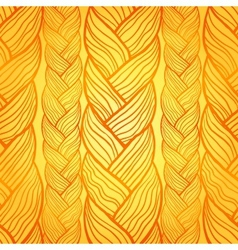 Orange abstract seamless hair pattern vector image