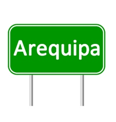 Arequipa road sign vector