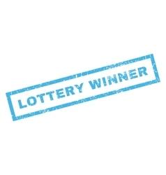 Lottery winner rubber stamp vector