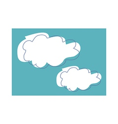 The clouds in the sky vector