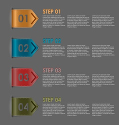 Colorful bookmarks steps for tutorial vector image