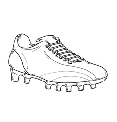 Football boots sketch vector