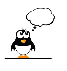 Funny penguin color vector